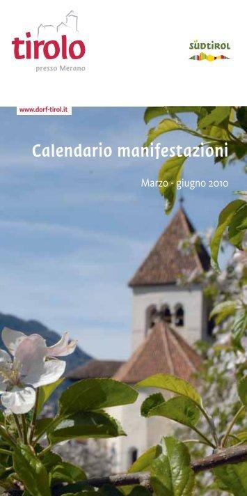 Calendario manifestazioni