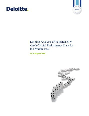 Deloitte Analysis of Selected STR Global Hotel Performance Data ...