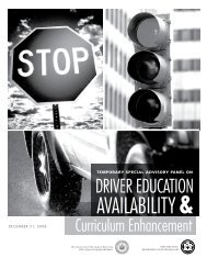 Driver Education Report - DMV - New York State