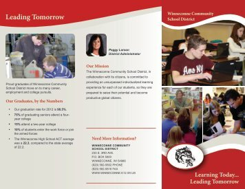Download our brochure - Winneconne Community School District
