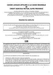 Lire le rapport - Crédit Agricole Alpes Provence