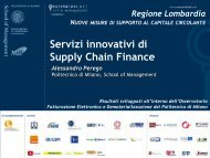 Supply Chain Finance: the future of everything - Regione Lombardia