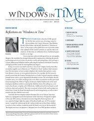 Windows in Time 2012 May - School of Nursing - University of Virginia