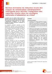 Normes minimales pour la réduction locale des ... - Climate Centre