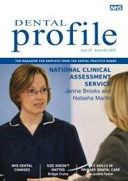 Dental Profile Issue 49 : December 2005 (PDF, new window, 652KB)
