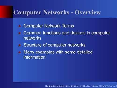 Computer Networks - Overview - cubeos org web server