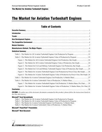 The Market for Aviation Turboshaft Engines - Forecast International