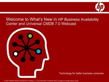 Welcome to What's New in HP Business Availability Center