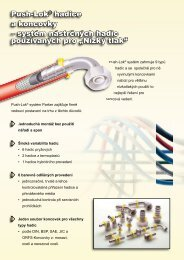 Push-Lok® hadice a koncovky – systém nástrčných hadic ...