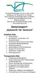 """Seniorensport: """"Gymnastik für Senioren!"""" - HOY-REHA GmbH"""