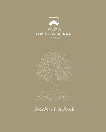 Boarder's Handbook - Oswestry School