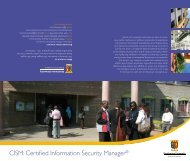 CISM: Certified Information Security Manager® - Strathmore University