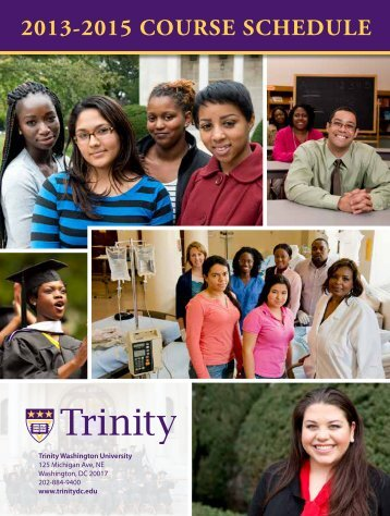 2013-2015 COURSE SCHEDULE - Trinity Washington University