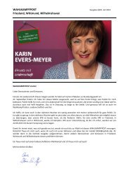 Newsletter vom 20. Juli 2013 - Karin Evers-Meyer MdB