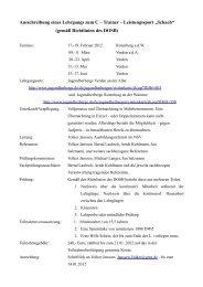 Ausschreibung eines Lehrgangs zum C – Trainer – Leistungssport ...