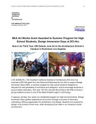 NEA Art Works Grant Awarded to Summer Program for High School ...