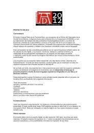 PROYECTO AD 2012 Convocatoria El Centro Cultural Pablo de la ...