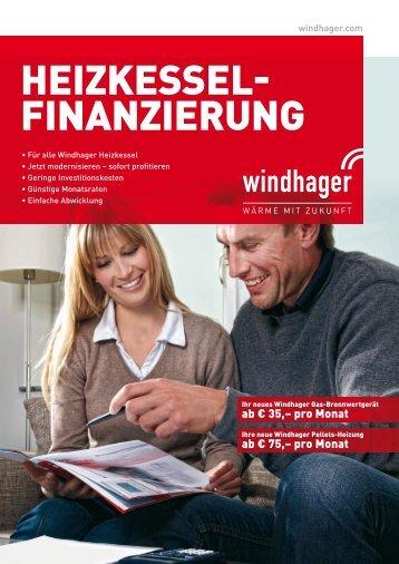 Folder Windhager Heizkessel Finanzierung