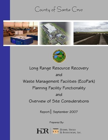 Siting Economic Report September 2007 - Public Works Home Page