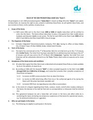"""RULES OF THE SMS PROMOTIONAL GAME (the """"Rules"""") All ... - Du"""