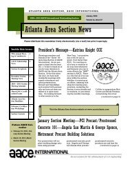 January 2011 - AACE International - Atlanta Section