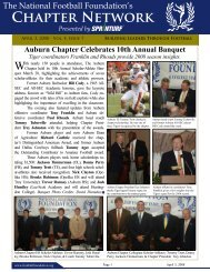 Volume 4, Issue 7 - The National Football Foundation