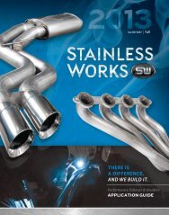THERE IS A DIFFERENCE, AND WE BUILD IT. - Stainless Works