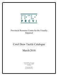 Corel Draw Tactiles Catalogue Table of Contents (PDF) - Provincial ...