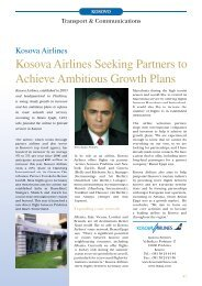 Kosova Airlines Seeking Partners to Achieve Ambitious Growth Plans