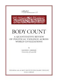 body count - The Royal Islamic Strategic Studies Centre
