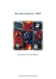 VW Financial Services AG Geschäftsbericht 1997 - Volkswagen ...
