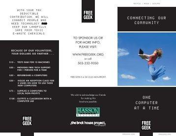 2008 brochure.indd - Free Geek