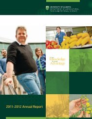 2011–2012 Annual Report - Agricultural, Food and Nutritional Science