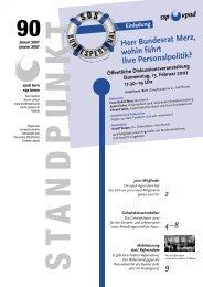 Standpunkt 90, Januar 2007/pdf - vpod Bern