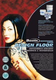 DESIGN FLOOR SYSTEM — - Bostik