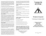 À propos du parrainage - Marijuana Anonymous