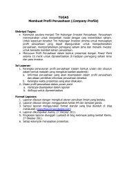 TUGAS Membuat Profil Perusahaan (Company Profile)