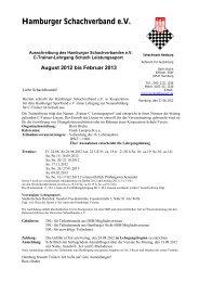 August 2012 bis Februar 2013 - beim Hamburger Schachverband