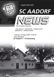 SCA-News Herbst 2007 - SC Aadorf
