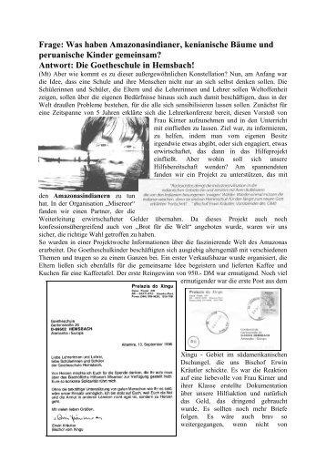 INFO - Goetheschule Hemsbach Homepage