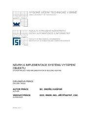 vysoké učení technické v brně návrh a implementace systému ...