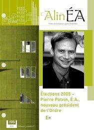 juin 2005 - Ordre des évaluateurs agréés du Québec