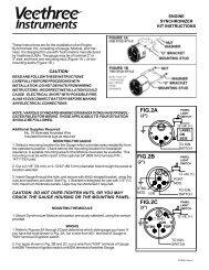 engine synchrometer - Veethree Instruments