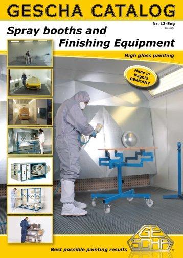 Spray booths and - Gescha GmbH