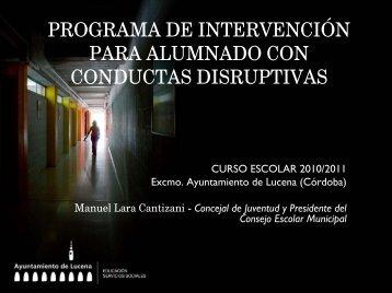 programa de intervención para alumnado con conductas disruptivas