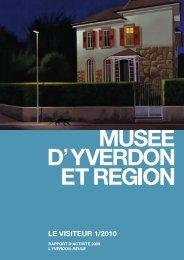 LE VISITEUR 1/2010 (format PDF) - Musée d'Yverdon et région