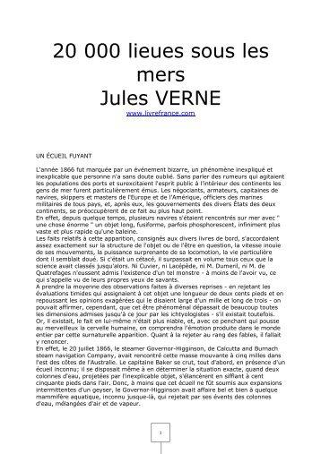 20 000 lieues sous les mers Jules VERNE - livrefrance.com