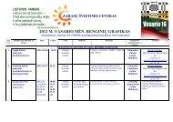 2012 m. vasario mėnesio renginiai - Zarasų švietimo centras
