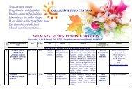 2011 m. spalio mėnesio renginiai - Zarasų švietimo centras