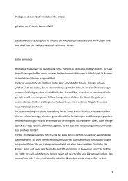 Pröpstin Carmen Rahlf, Predigt 03.06.2012 / Trinitatis ... - Uwe Appold